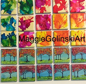 Miniature Landscapes & Florals 5*5 magnets